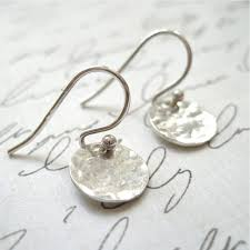 simple ear rings tiny simple hammered disc earrings becoming jewelry