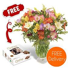 flower delivery uk fresh flowers delivered free uk delivery 30 mixed freesias