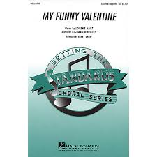 my funny valentine ssaa a cappella arranged by kirby shaw wwbw