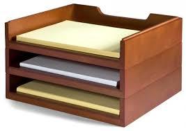 Desk Organizers And Accessories Bindertek Stacking Wood Desk Organizers 3 Letter Tray Kit