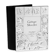 silver photo album godinger silver plated baby album bed bath beyond