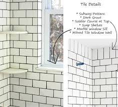 Light Tile With Dark Grout Cottage Update Bathroom Tile Design Manifestdesign Manifest