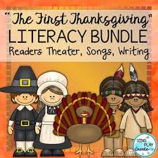 thanksgiving play or readers theater and songs with literacy