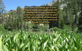 in prayer and supplication with thanksgiving desktop background display page