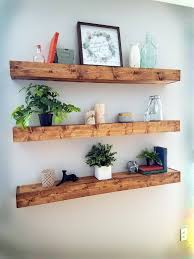 diy primitive floating bookshelves