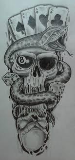 skulls and snake by karlinoboy on deviantart