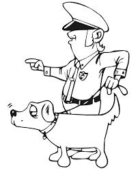 imprime le dessin à colorier de policier