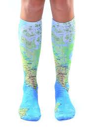 map knee high socks living royal