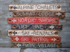 Nordic Lodge Buffet by Ski Lift Handmade Wooden Sign Distressed Style Ski Lift Sign Ski