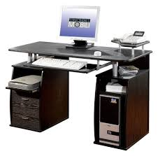 techni mobili double pedestal laminate computer desk chocolate techni mobili dual pedestal computer desk in espresso desks and