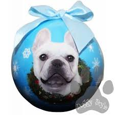 bulldog shatterproof breed ornament