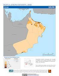 Map Of Oman Maps Population Density Grid V1 Sedac