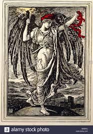 fine arts art nouveau graphic dragon slayer lithograph