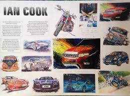 artist reference of ian cook unique automotive artist who uses