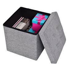 cube folding ottoman storage seat ottomans furniture