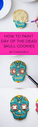 stamped and painted day of the dead sugar cookies see the step x