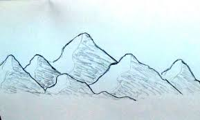 sketch drawing for beginners how to sketch mountain range very