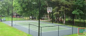 Build A Basketball Court In Backyard Outdoor Courts For Every Type Of Sport Backyard Basketball Court