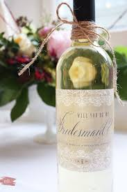 will you be my bridesmaid wine labels diy bridesmaid gift how to remove wine labels and customize a