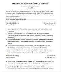 free resume format free sle resume format preschool resume template free