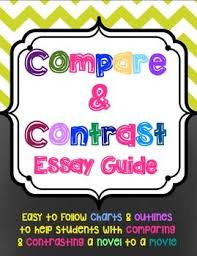 campare and contrast movie to book essay guide student packet