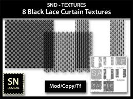 second life marketplace snd textures 8 black lace curtain