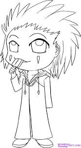 draw chibi axel step by step drawing sheets added by dawn