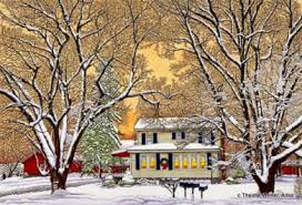 country christmas winter gallery artist thelma winter christmas in the country