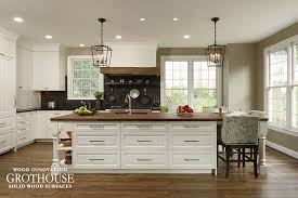 kitchen with white cabinets and wood countertops white cabinets archives wood countertop butcherblock and