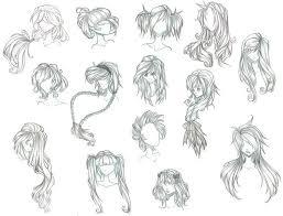 drawn long hair chibi pencil and in color drawn long hair chibi
