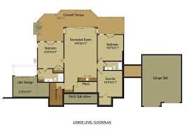 walk out basement floor plans open living floor plan lake house design with walkout basement
