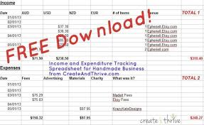 Business Income And Expense Spreadsheet Free Downloadable Income Expenditure Spreadsheet Create Thrive