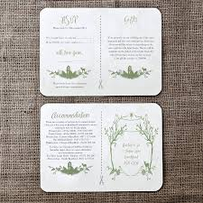 Invitations And Rsvp Cards Woodland Wedding Invitation And Details Rsvp Card By Julia