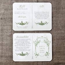 Rsvp On Invitation Card Woodland Wedding Invitation And Details Rsvp Card By Julia
