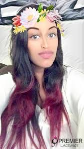 hair highlighted in front stunning hairstyle black hair with red highlights glueless lace