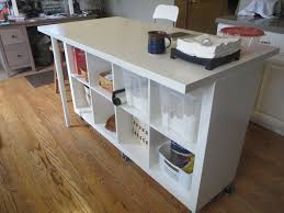 expandable kitchen island extendable kitchen island expedit and linmon ikea hackers for