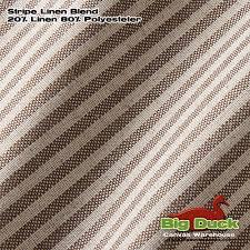 linen wholesale fabric cotton polyester blend stripe
