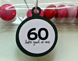 60th birthday party decorations 60th birthday party favors set of 12 candy treat bags oh