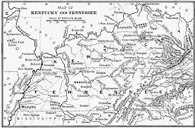 kentucky map bardstown map of kentucky and tennessee