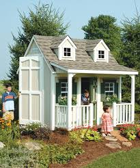 suncast backyard cottage floored playhouse u0026 porch kit zulily