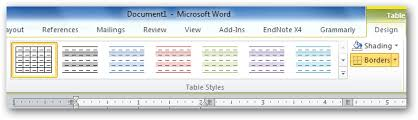 Change Table Style Word Beginner Add Flair To Word Documents Using Tables