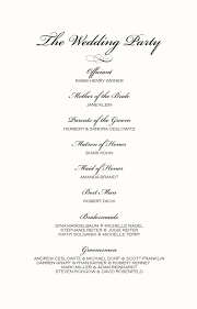 order of ceremony for wedding program monogram wedding ceremony program exles wedding directories