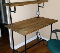 Diy Desk Pipe Black Pipe Furniture Black Pipe Desk With Built In Lights And