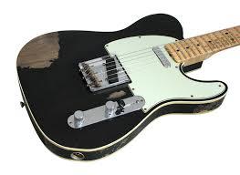 fender custom shop 1963 telecaster custom heavey relic black