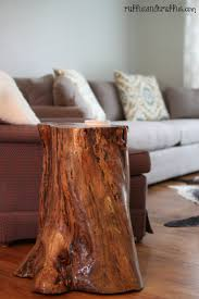 Tree Stump Side Table Tree Stump Table Diy