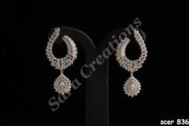 heavy diamond earrings american diamond earings unique diamond earrings manufacturer
