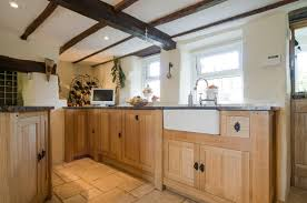 Free Standing Kitchen Cabinets Uk by Solid Oak Free Standing Bespoke Kitchen Cornwall Samuel F Walsh
