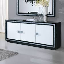 Small Black Gloss Sideboard Gloria Sideboard In Black And White High Gloss With