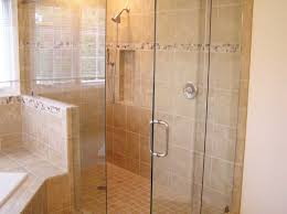 remodel bathroom shower tile white ceramic tiled replaces pre fab