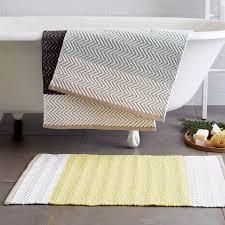 Gray And Yellow Bathroom Rugs West Elm Bath Rug Rug Designs